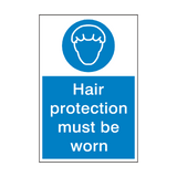 Hair Protection Must Be Worn Sign | Safety-Label.co.uk