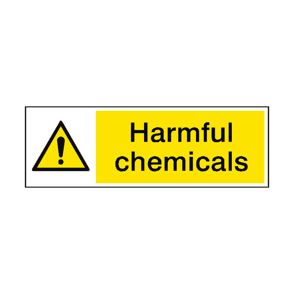 Harmful Chemicals Hazard Sign - Safety-Label.co.uk