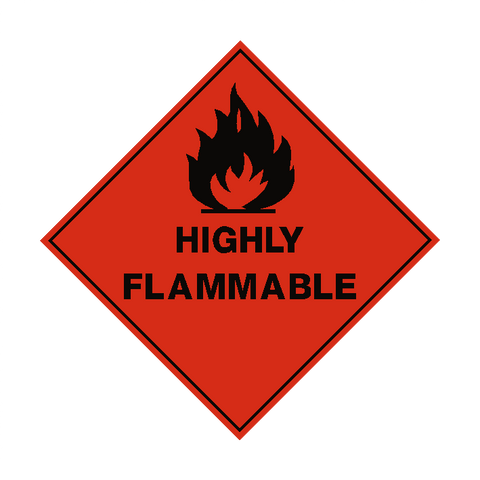 Highly Flammable Label - Safety-Label.co.uk