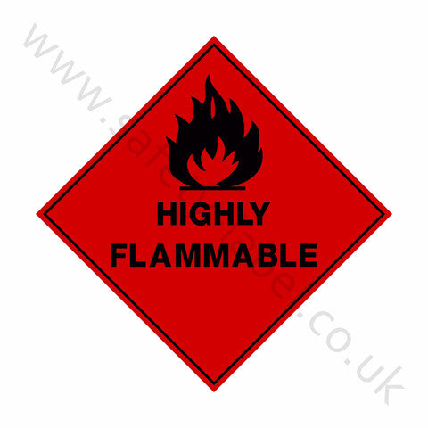 Highly Flammable Sign - Safety-Label.co.uk