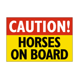 Caution Horses On Board Sticker | Safety-Label.co.uk