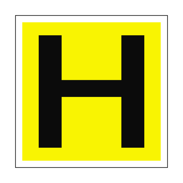 Hydrant H Location Safety Sticker - Safety-Label.co.uk