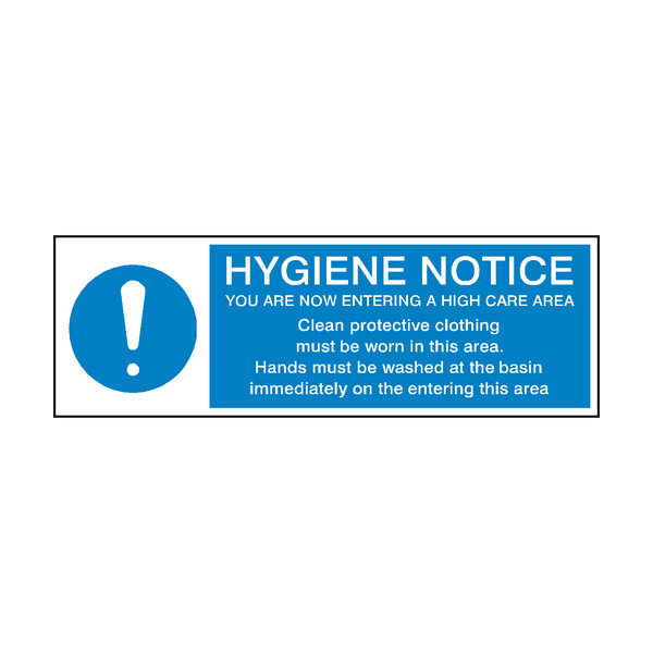 Hygiene Notice Mandatory Sign | Safety-Label.co.uk