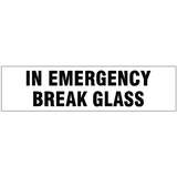 In Emergency Break Glass Vehicle Sticker | Safety-Label.co.uk