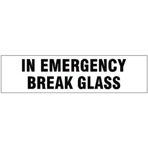 In Emergency Break Glass Vehicle Sticker - Safety-Label.co.uk