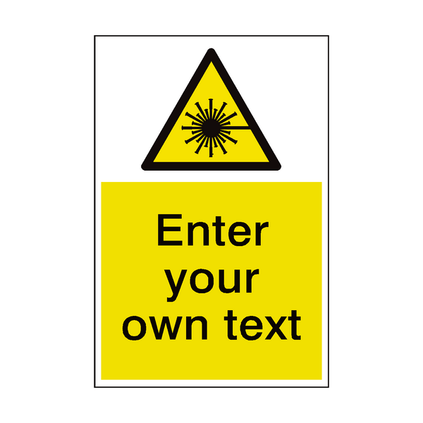 Laser Beam Custom Hazard Sticker - Safety-Label.co.uk