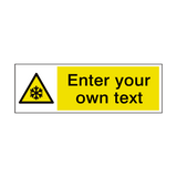 Low Temperature Custom Sticker | Safety-Label.co.uk
