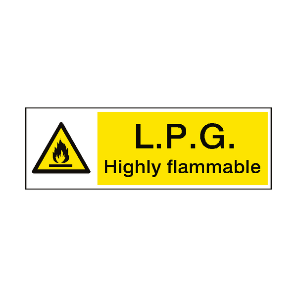 LPG Highly Flammable Hazard Sign - Safety-Label.co.uk