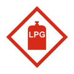 LPG Sticker - Safety-Label.co.uk