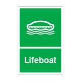 Lifeboat Sticker | Safety-Label.co.uk