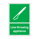 Line-throwing Appliance Sticker | Safety-Label.co.uk