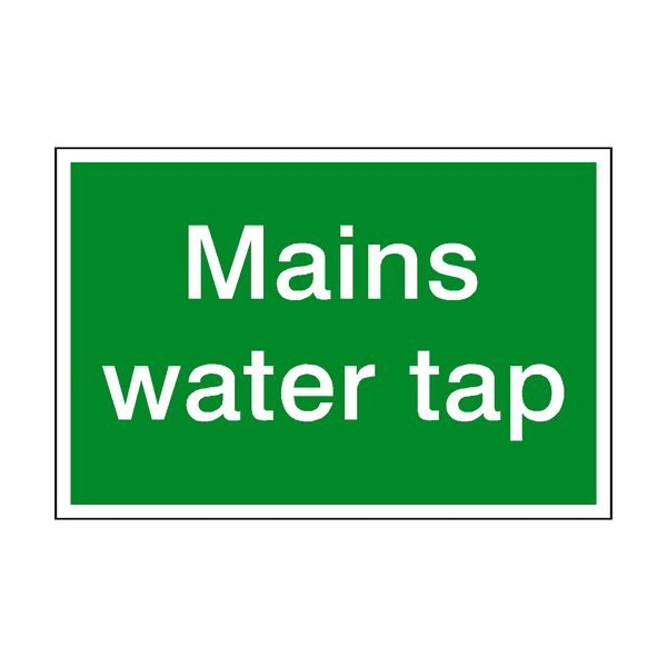 Mains Water Tap Sign - Safety-Label.co.uk