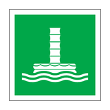 Marine Evacuation Chute Symbol Sign | Safety-Label.co.uk