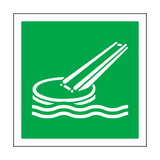 Marine Evacuation Slide Symbol Sign | Safety-Label.co.uk