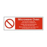 Microwave Oven Prohibition Sign | Safety-Label.co.uk