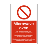 Microwave Oven Safety Sign | Safety-Label.co.uk