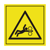 Moving Parts Crush Hazard ISO Label | Safety-Label.co.uk