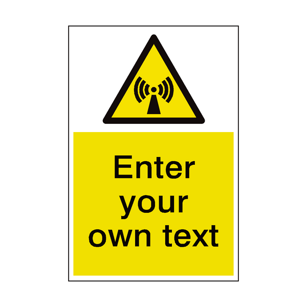 Non Ionizing Radiation Custom Hazard Sticker - Safety-Label.co.uk
