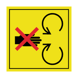 Never Reach Into Machinery Label | Safety-Label.co.uk