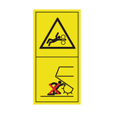 Never Reach Into Pick Up Area As Long As Tractor Is Running With PTO Connected Sticker | Safety-Label.co.uk