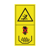 Never Reach or Climb Into Grain Tank While Engine Is Running Sticker | Safety-Label.co.uk
