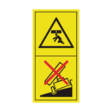 Never Tip Trailer On Soft Ground Or On A Slope Sticker | Safety-Label.co.uk