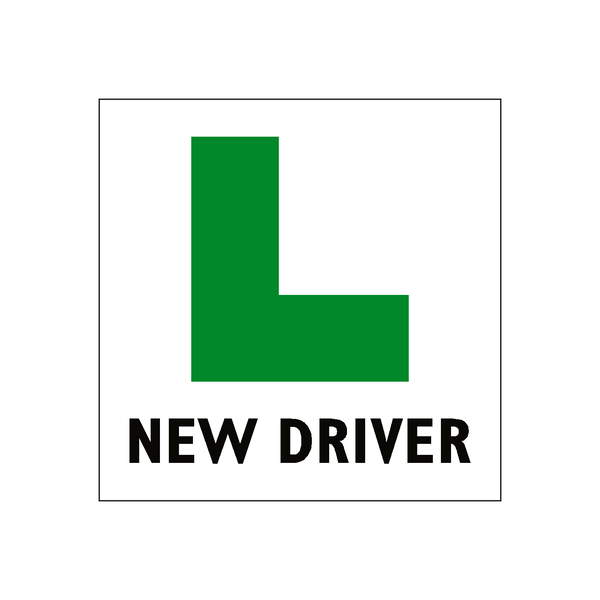 New Driver L Plate Sticker - Safety-Label.co.uk