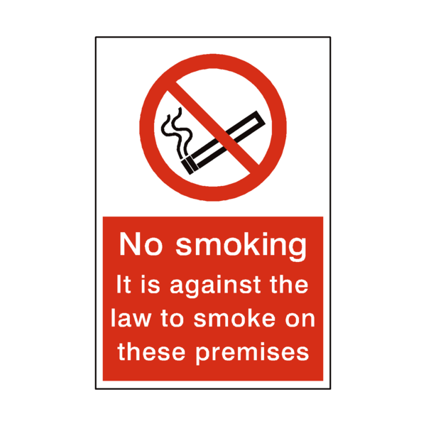 No Smoking Premises Sticker