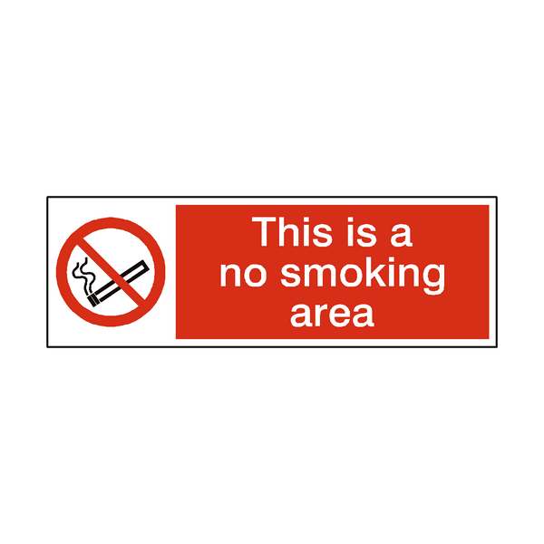 No Smoking Area Sticker | Safety-Label.co.uk