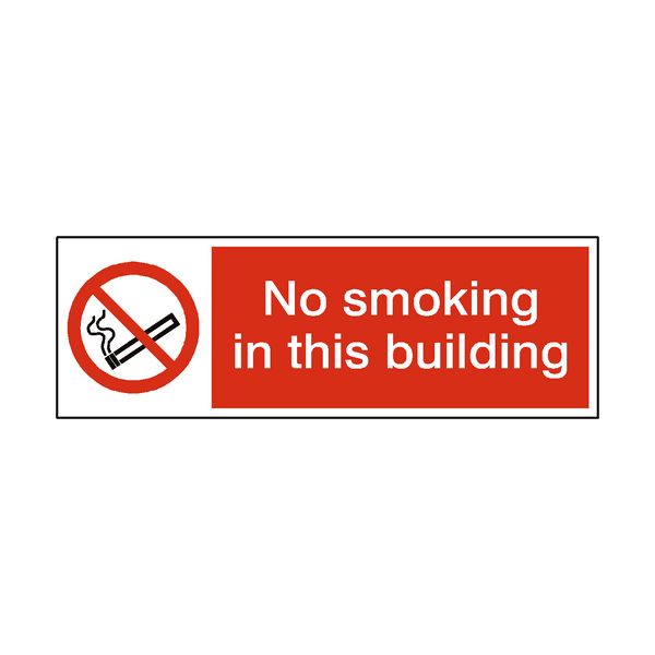 No Smoking In This Building Sticker | Safety-Label.co.uk