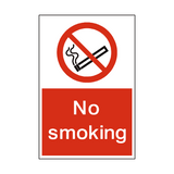 No Smoking Portrait Sign | Safety-Label.co.uk