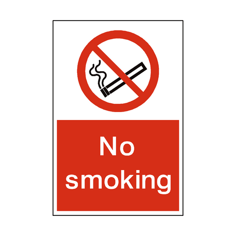 No Smoking Sign | PVC Safety Signs | Health and Safety Signs