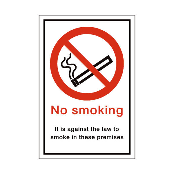 No Smoking Law Sticker