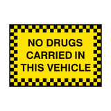 No Drugs Carried In This Vehicle Sign | Safety-Label.co.uk