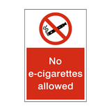 No E-cigarettes Allowed Sign | Safety-Label.co.uk