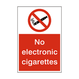No Electronic Cigarettes sticker - Safety-Label.co.uk