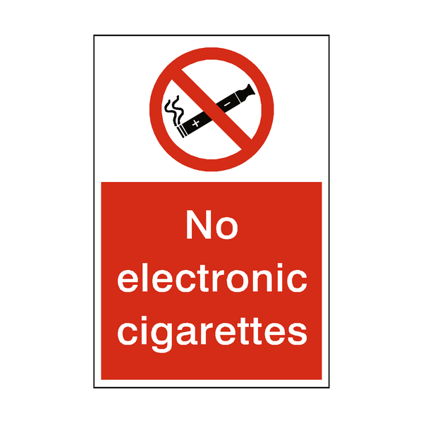 No Electronic Cigarettes Sticker | Safety-Label.co.uk