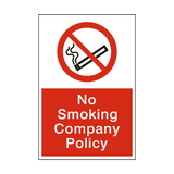 No Smoking Company Policy sticker - Safety-Label.co.uk