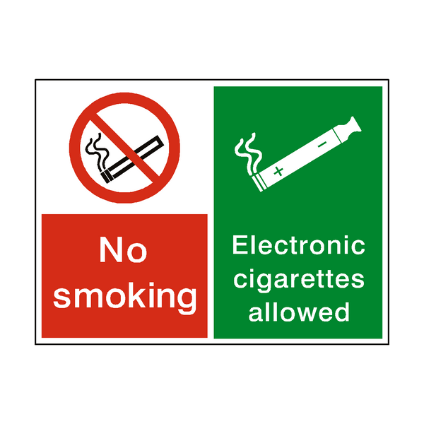 No Smoking Electronic Cigarettes Permitted Sticker | Safety-Label.co.uk