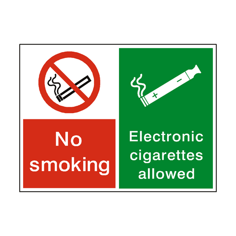No Smoking Electronic Cigarettes Permitted sticker