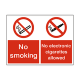 No Smoking No Electronic Dual sticker - Safety-Label.co.uk