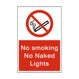 No Smoking No Naked Lights Sign | Safety-Label.co.uk