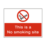 No Smoking Site Sign | Safety-Label.co.uk