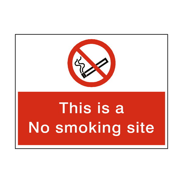 No Smoking Site Sticker | Safety-Label.co.uk