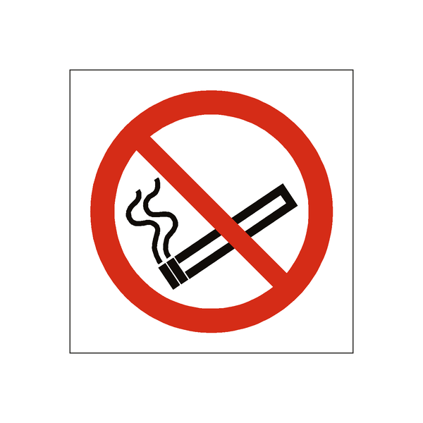 No Smoking Sticker - Safety-Label.co.uk