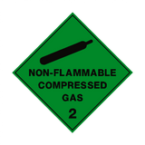 Non Flammable Compressed Gas 2 Label | Safety-Label.co.uk