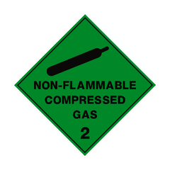 Non Flammable Compressed Gas 2 Label - Safety-Label.co.uk