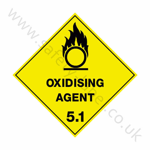 Oxidising Agent 5.1 Sign - Safety-Label.co.uk