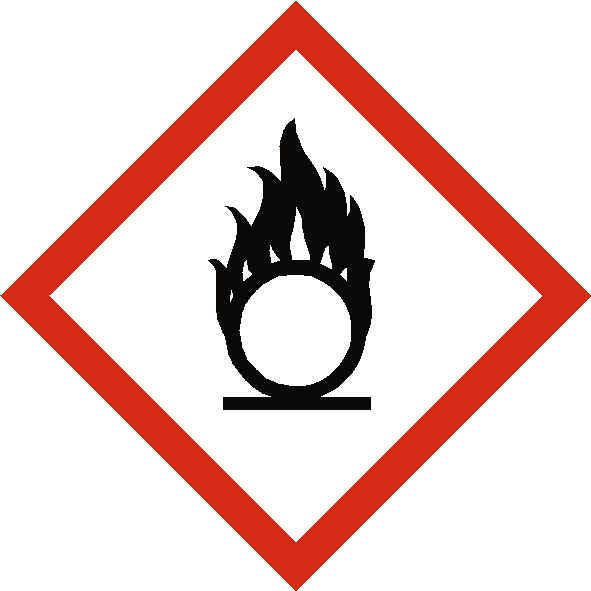 Oxidising COSHH Label - Safety-Label.co.uk