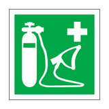 Oxygen Resuscitator Label | Safety-Label.co.uk